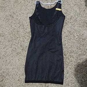 Women's built-in mesh bodysuit black medium 074
